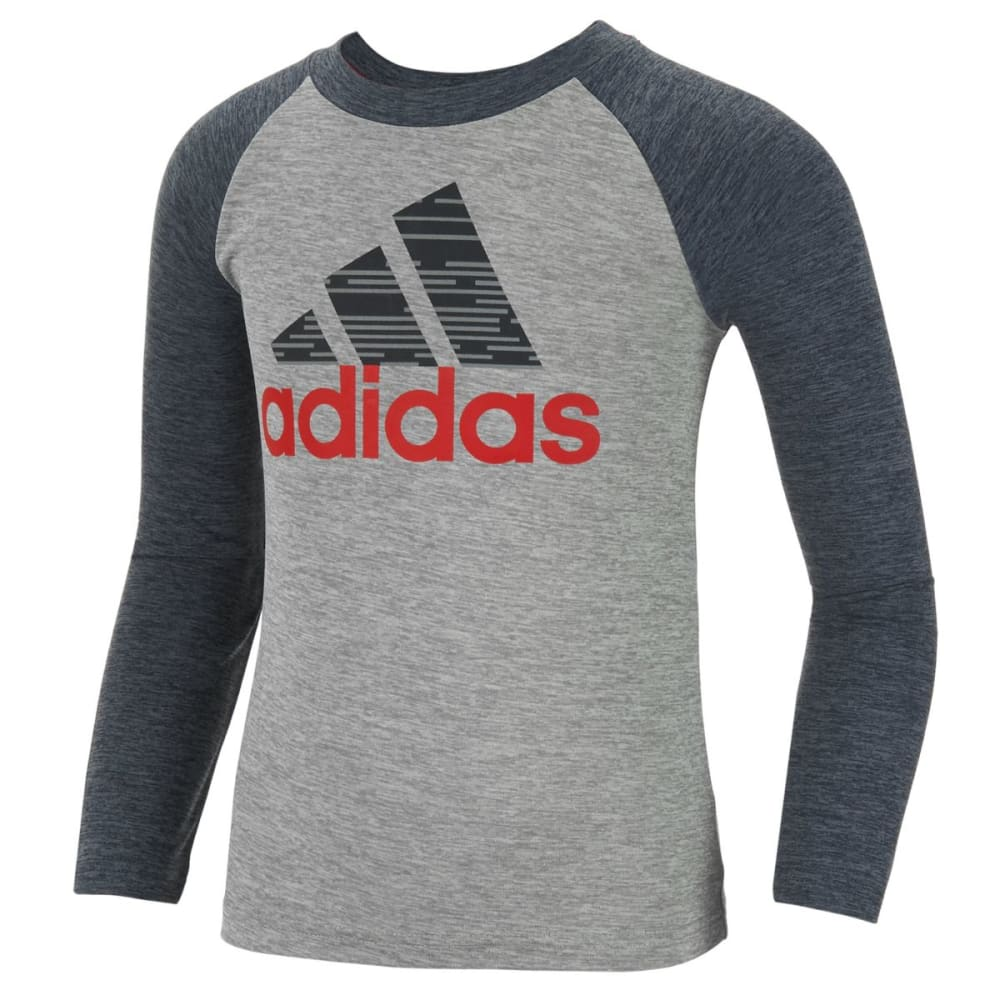 ADIDAS Boys' Training DNA Long-Sleeve Tee - MERCURY/RED-H04H