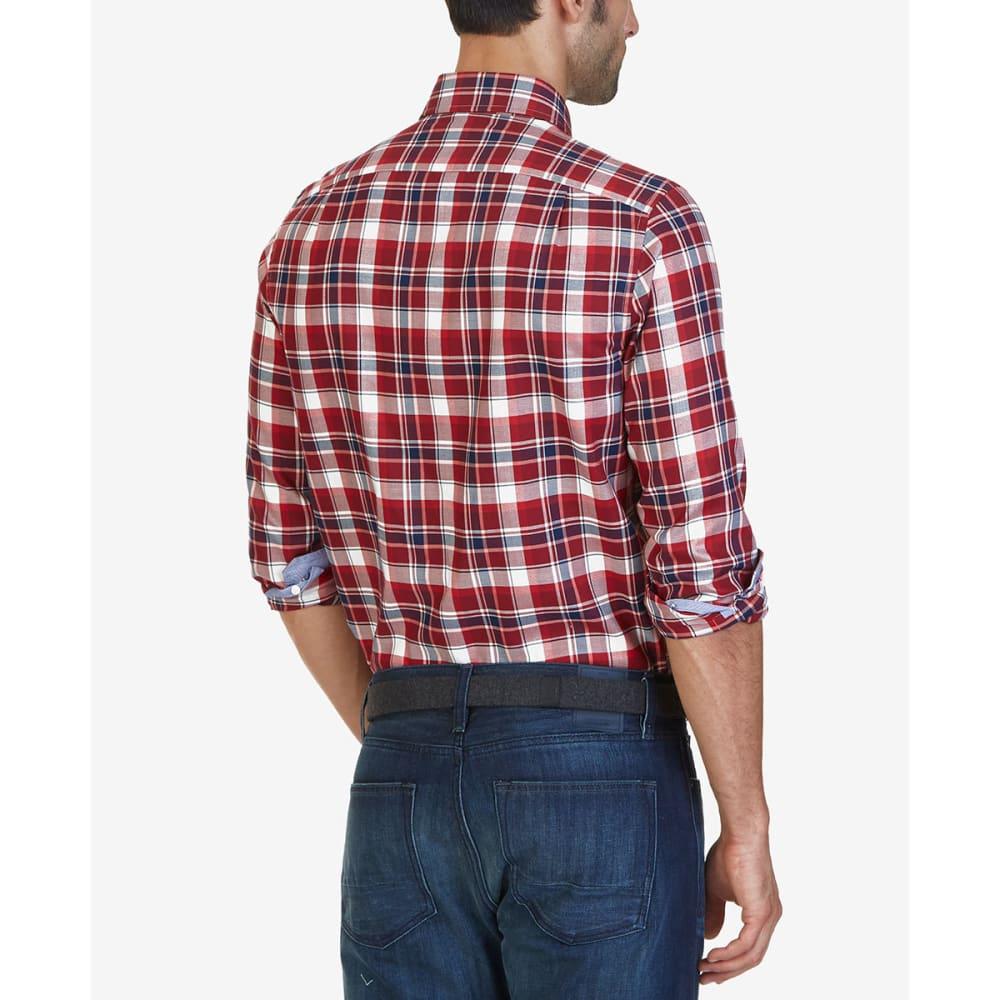 NAUTICA Men's Autumn Plaid Woven Long-Sleeve Shirt - AUTUMBERRY-60P