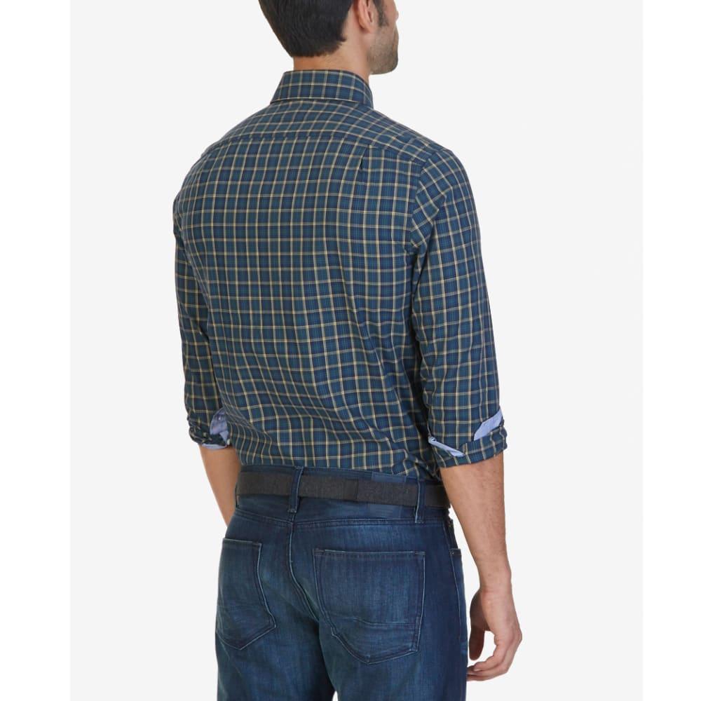 NAUTICA Men's Marine Plaid Woven Long-Sleeve Shirt - MARINE BLUE-4MB