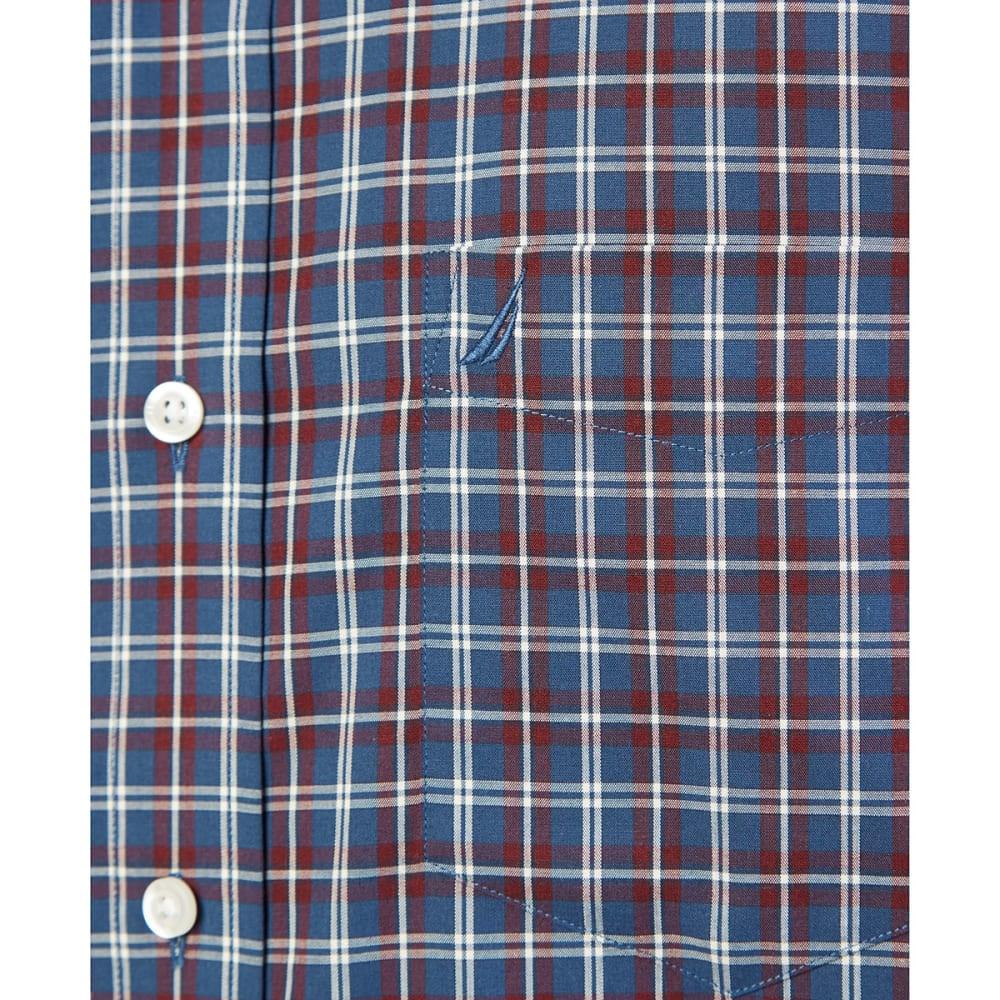 NAUTICA Men's True Plaid Woven Long-Sleeve Shirt - TRUE BLUE-4XU