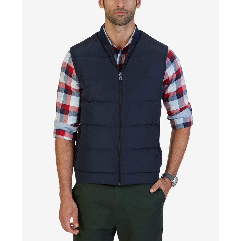 NAUTICA Men's Quilted Down Vest - NAVY-4NV
