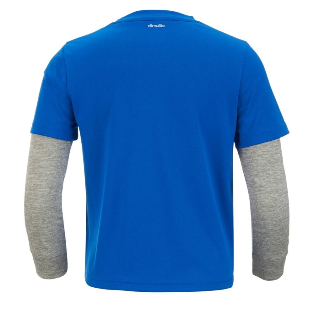 ADIDAS Boys' Game On Long-Sleeve Tee - BLUE-AB20