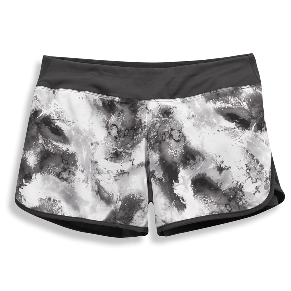 LAYER 8 Women's Printed Woven Shorts - BLACK PRINT-OIA