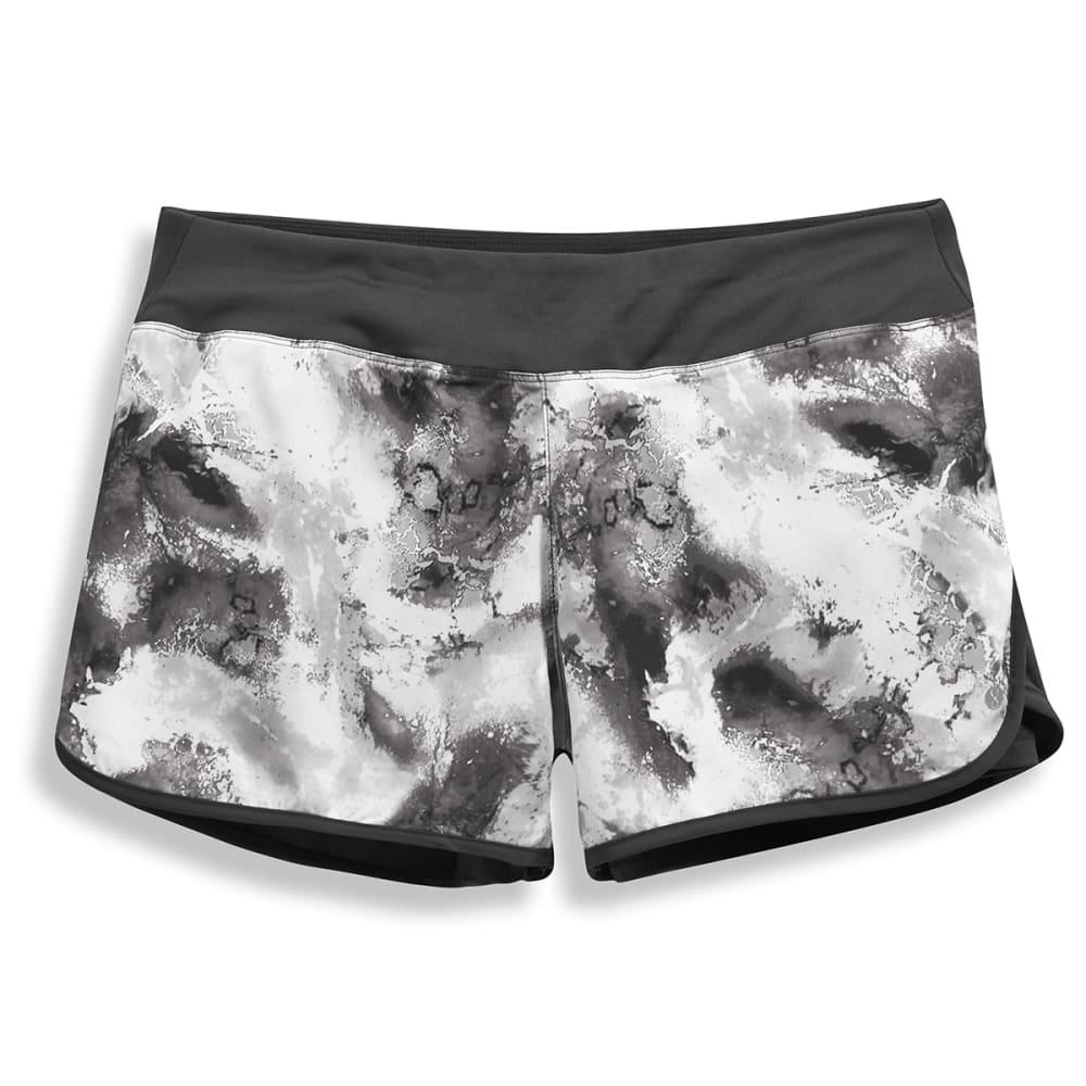 LAYER 8 Women's Printed Woven Shorts - BLACK PRINT-OIA