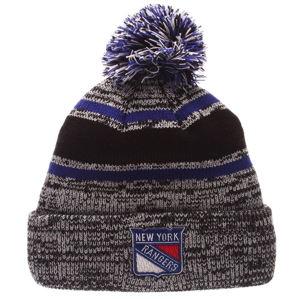 NEW YORK RANGERS Granite Cuffed Knit Hat - GREY/RYL