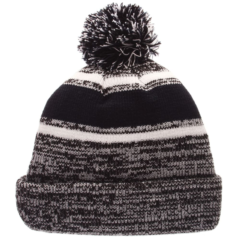 UCONN	Granite Cuffed Pom Knit Hat - GREY/NVY