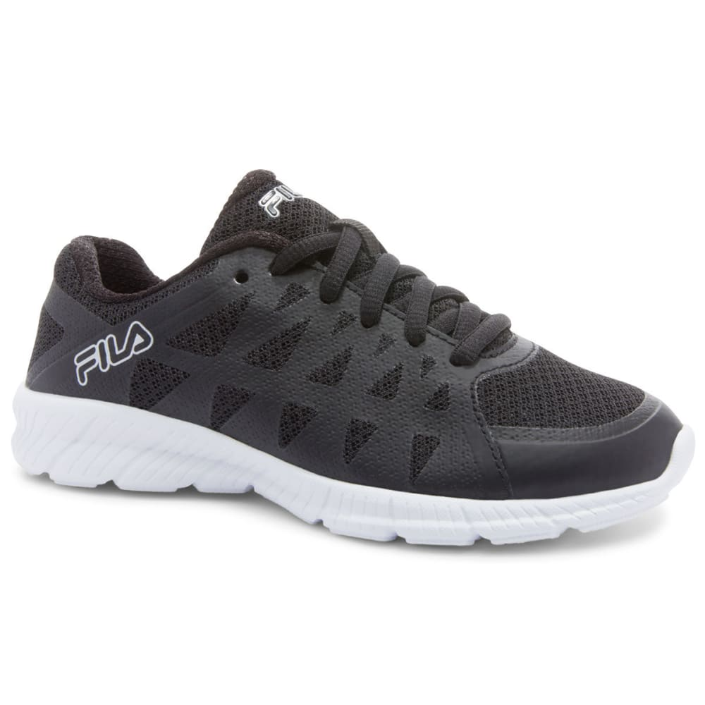 FILA Women's Memory Finity Sneakers - BLACK/WHITE/SILVER