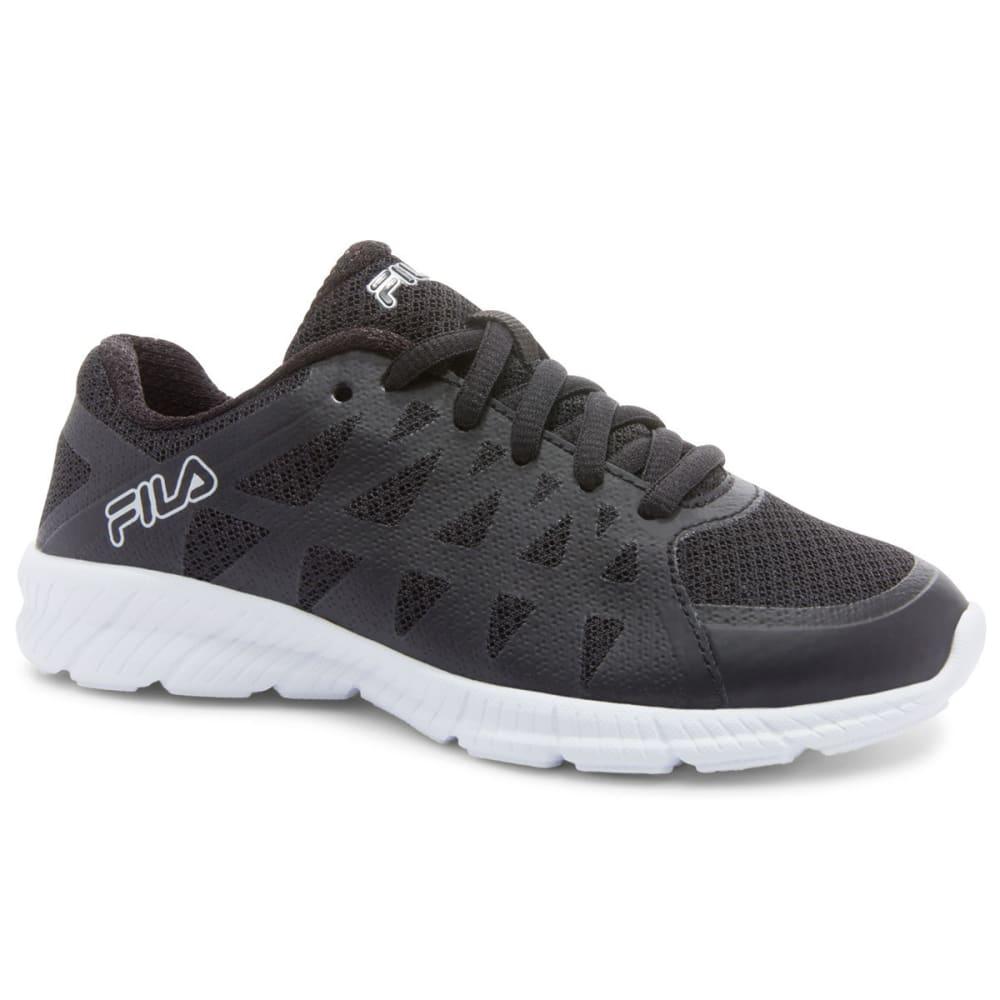 FILA Women's Memory Finity Sneakers - BLACK/WHITE/SILVER
