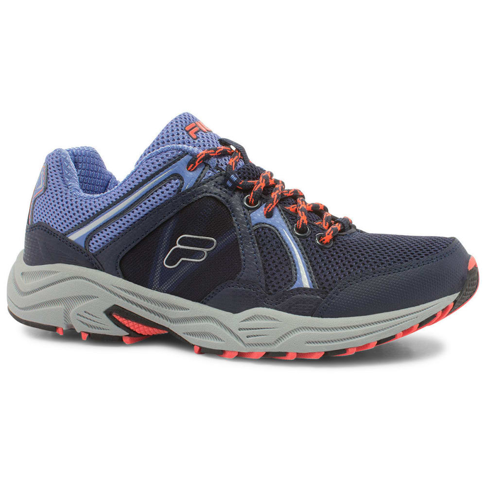 FILA Women's Vitality Trail Shoes - NAVY/WEDGEWOOD/CORAL