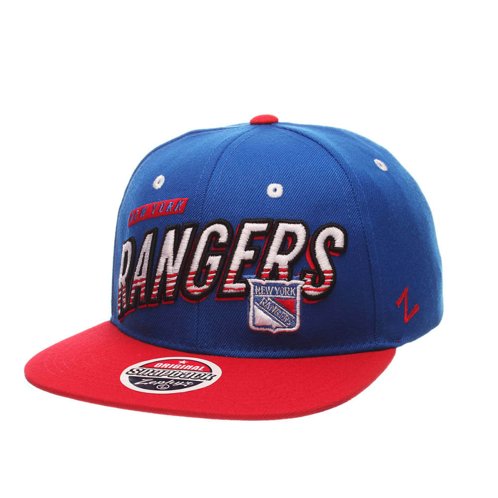 NEW YORK RANGERS Whiplash Snapback Hat - ROYAL BLUE/RED