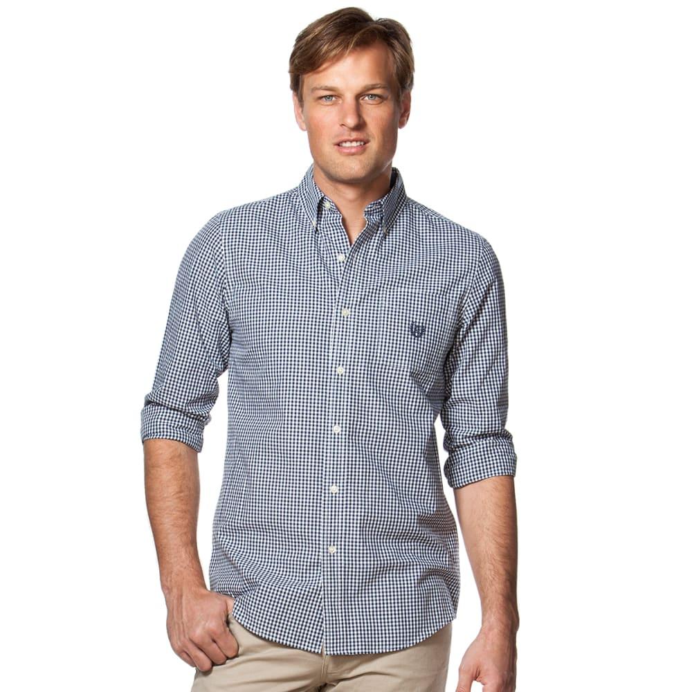 CHAPS Men's Gingham Woven Long-Sleeve Shirt - 410-NAVY