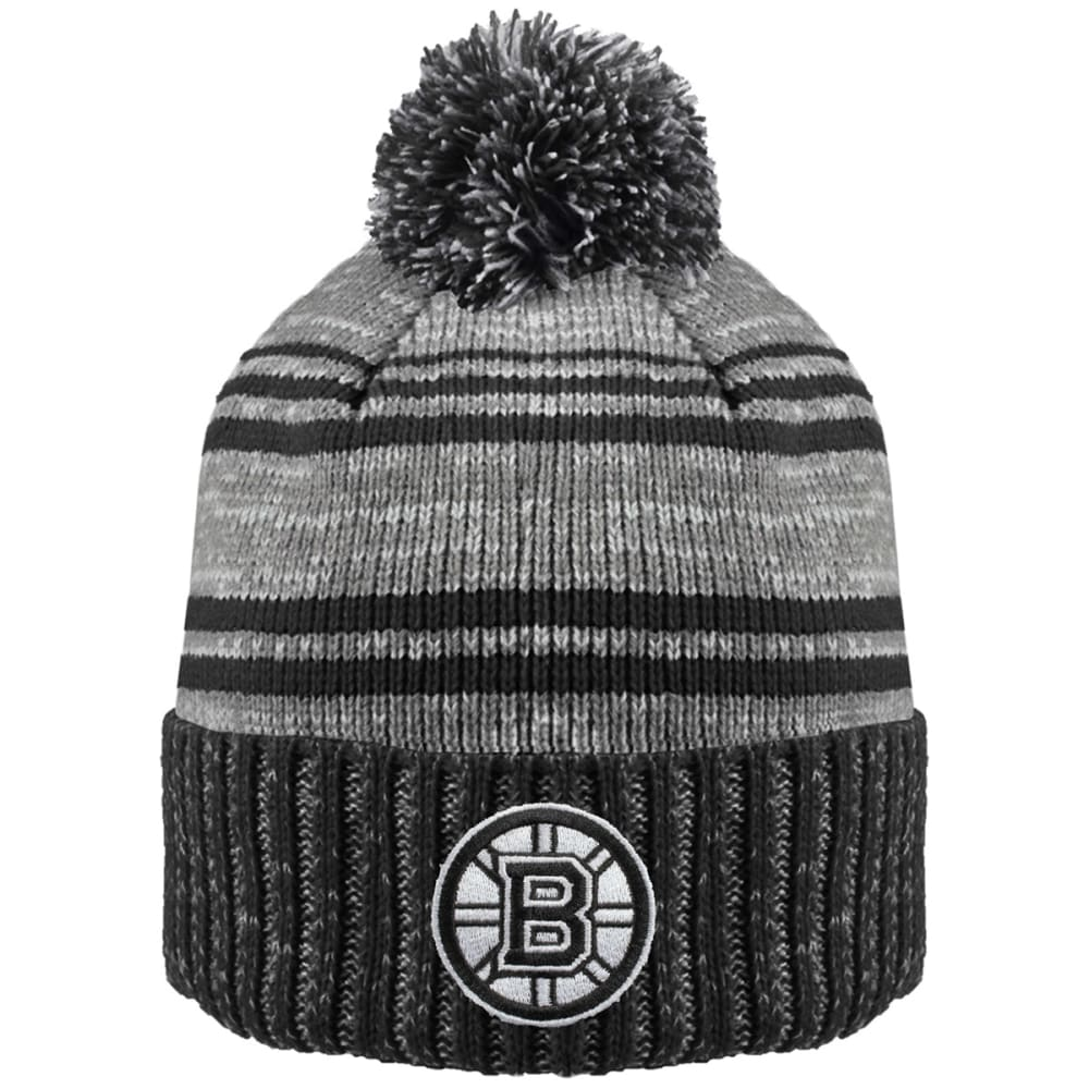 BOSTON BRUINS Merlin Cuffed Pom Hat - BLACK/GREY