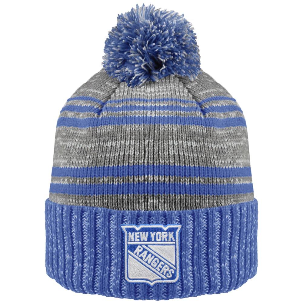 NEW YORK RANGERS Merlin Cuffed Pom Hat - ROYAL BLUE/GREY
