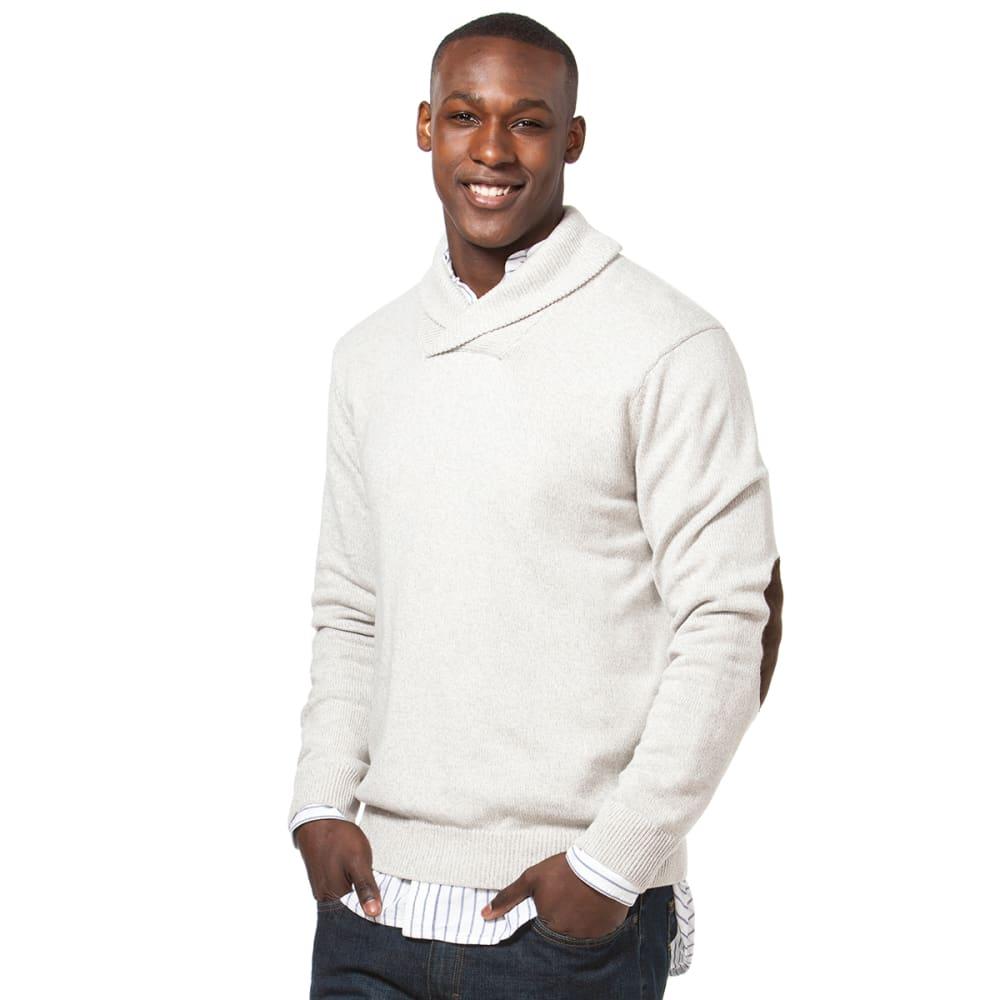 CHAPS Men's Solid Shaw Twist Sweater - 920-OATMEAL