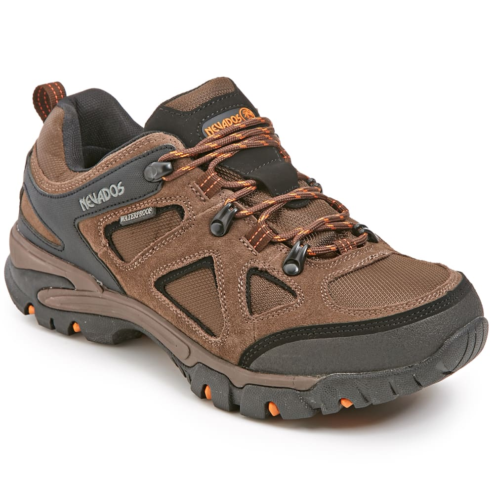 NEVADOS Men's Spire Low WP Sneakers - DK BROWN/ORANGE/BLK