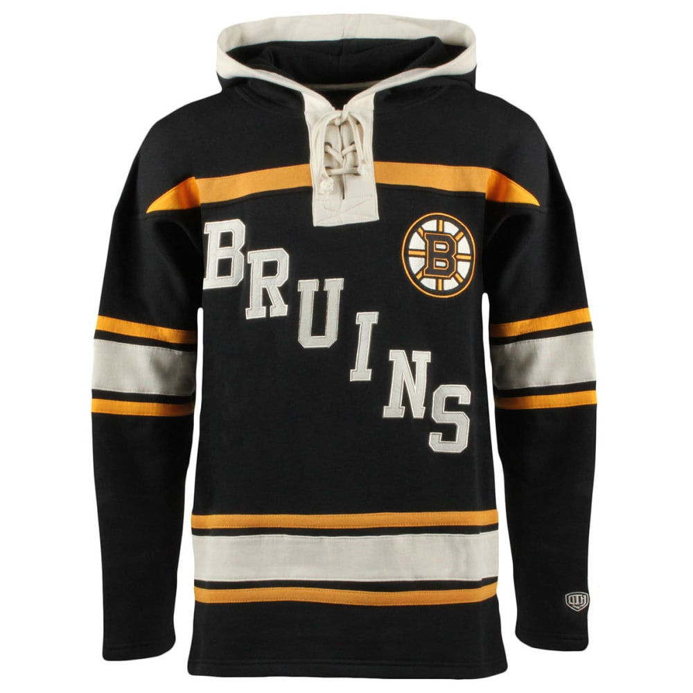 BOSTON BRUINS Men's Original Lacer Fleece Hoodie - BLACK