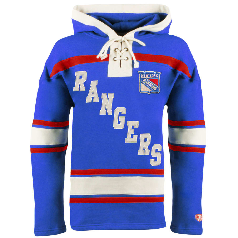 NEW YORK RANGERS Men's Original Lacer Fleece Hoodie - ROYAL BLUE