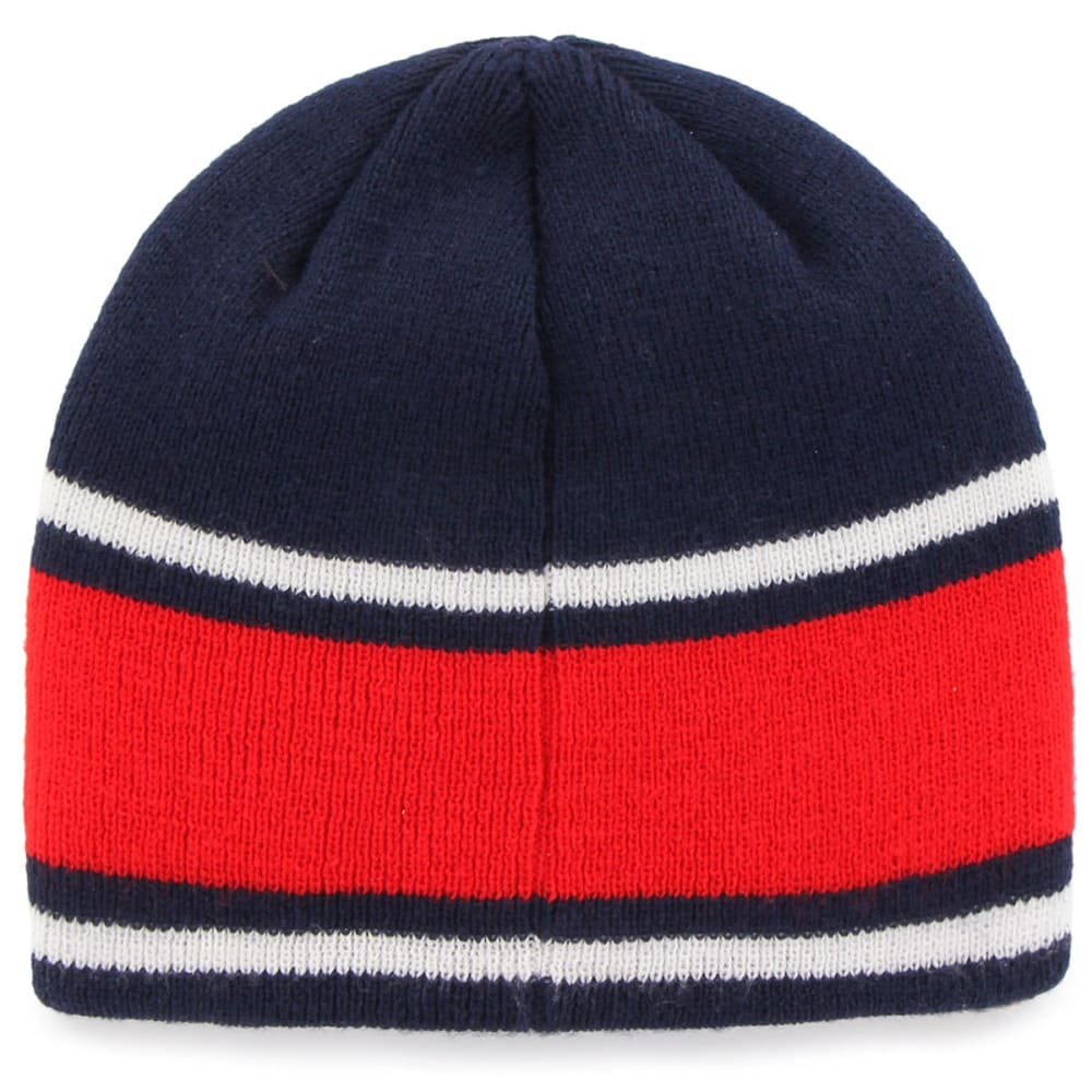 NEW ENGLAND PATRIOTS Men's Quincy Beanie - NAVY/RED