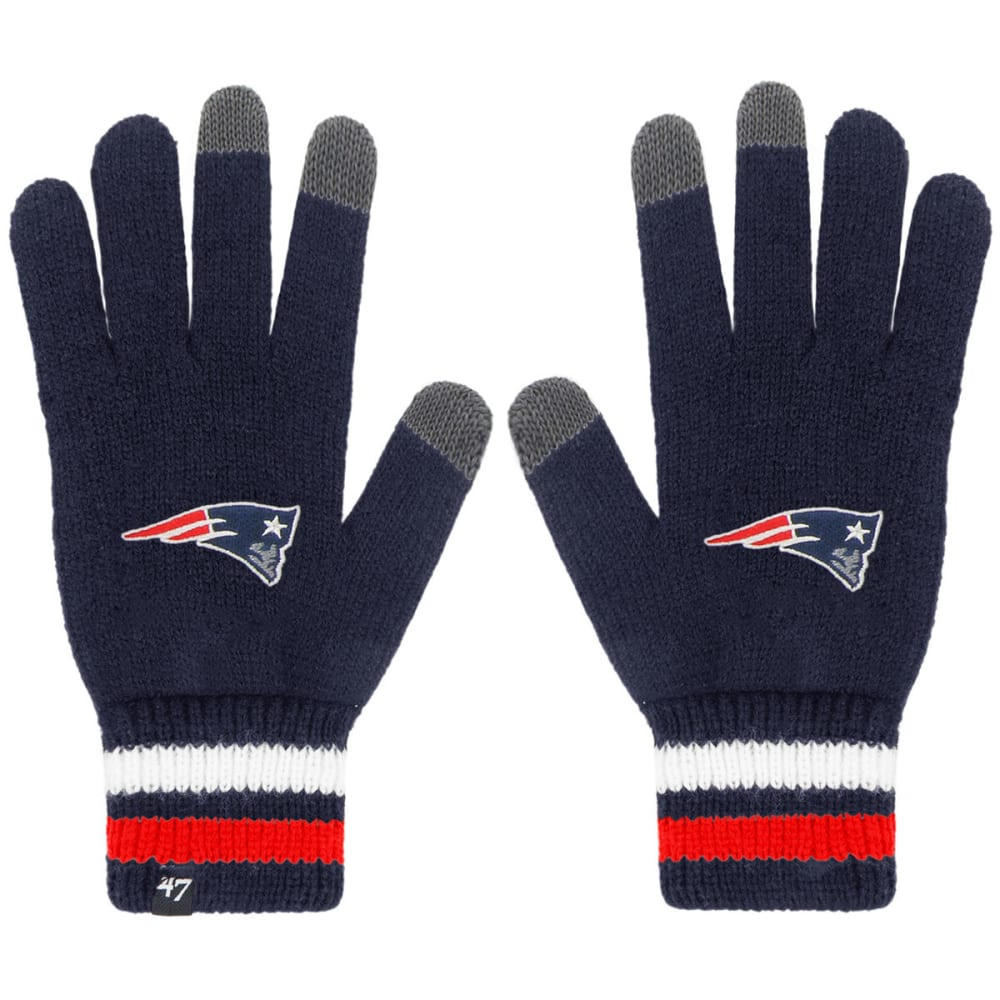NEW ENGLAND PATRIOTS Jumble Touch Gloves - NAVY