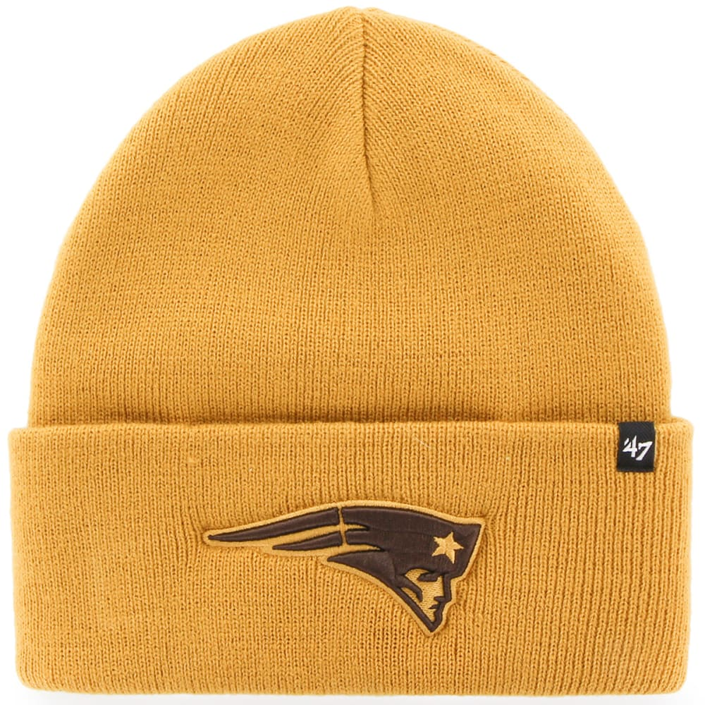 NEW ENGLAND PATRIOTS Men's Haymaker Wheat Cuffed Beanie - DARK GOLD (WHEAT)