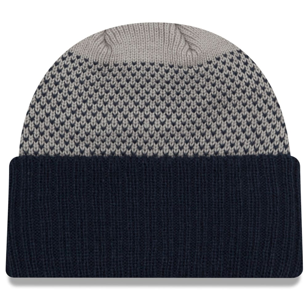NEW ENGLAND PATRIOTS Cozy Cover Cuff Beanie - NAVY/GREY