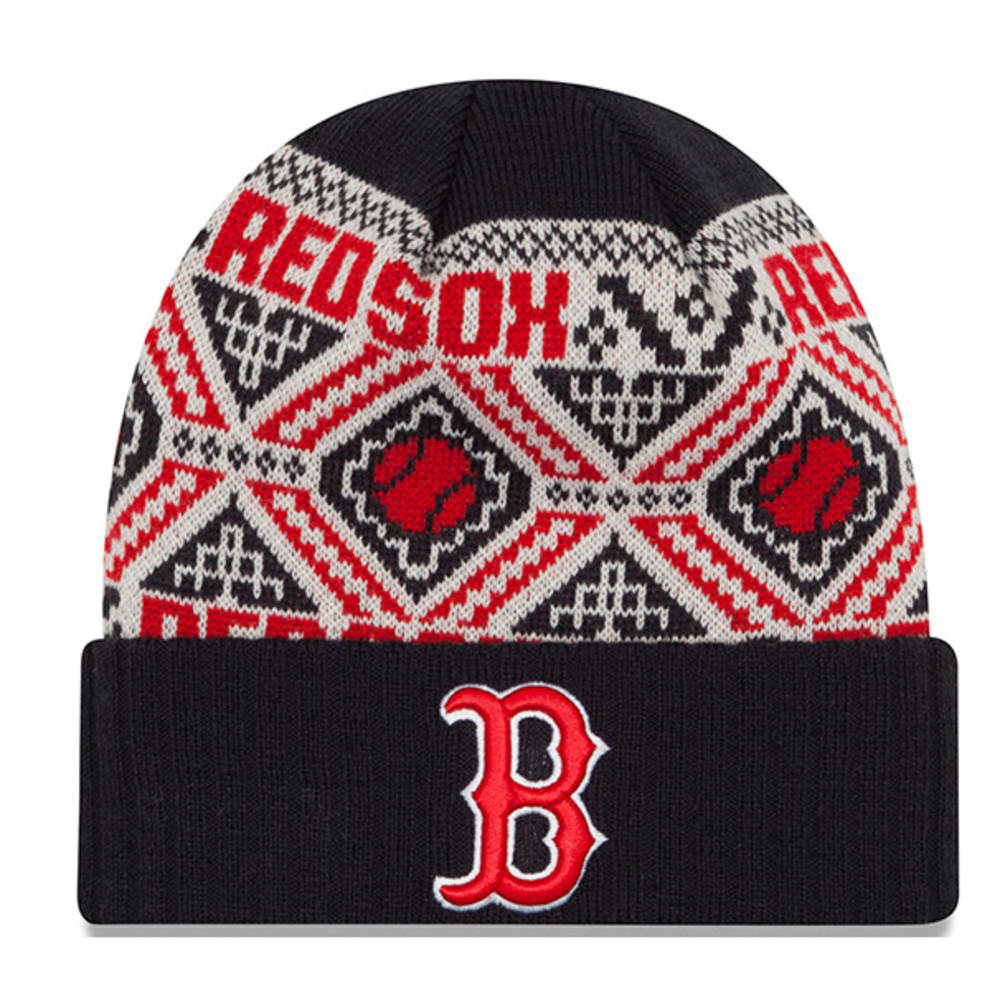 BOSTON RED SOX Cozy Cuff Beanie - NAVY/RED