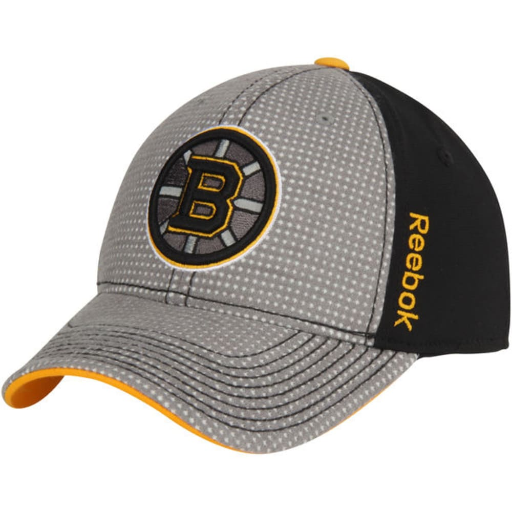 REEBOK Men's Boston Bruins Practice Cap - BLACK/GREY