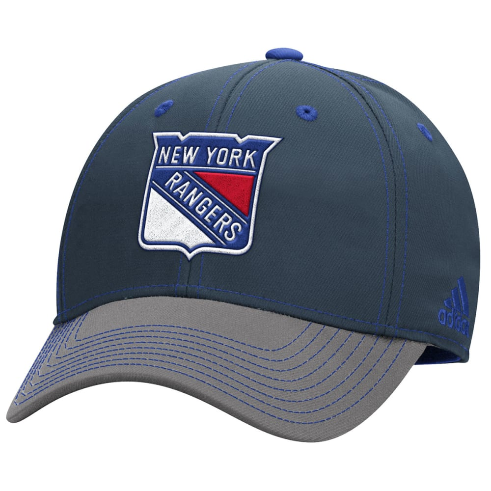 ADIDAS NEW YORK RANGERS Men's Two-Tone Stretch Flex Hat - GREY