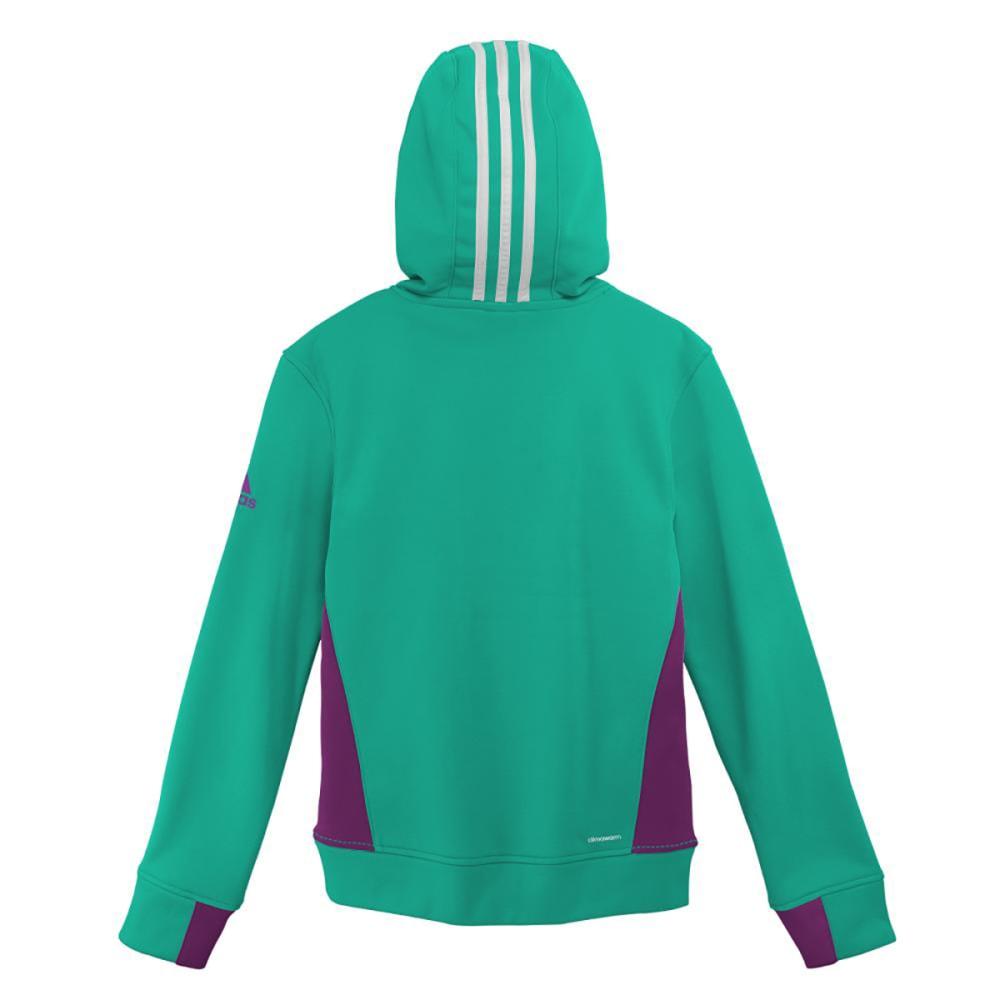 ADIDAS Girls' Tech Pullover Hoodie - SHOCK MINT/PRPLE-AVC
