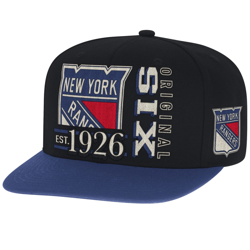 NEW YORK RANGERS Men's Original Six Snapback Cap - BLACK
