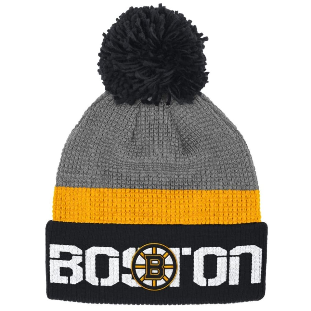 BOSTON BRUINS Center Ice Cuffed Knit Hat - BLACK/GOLD