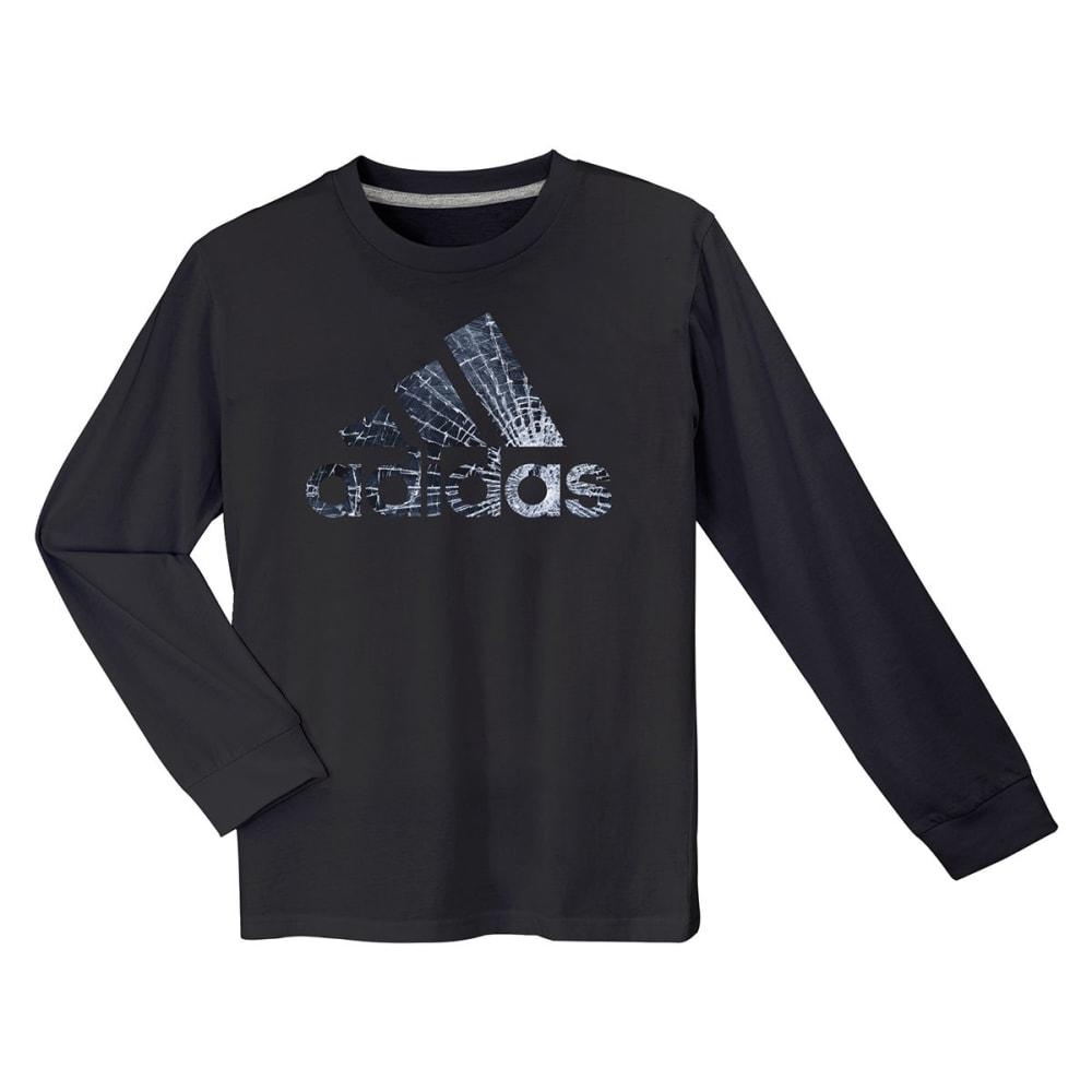 ADIDAS Boys' Broken Glass Long-Sleeve Logo Tee - BLACK-A01