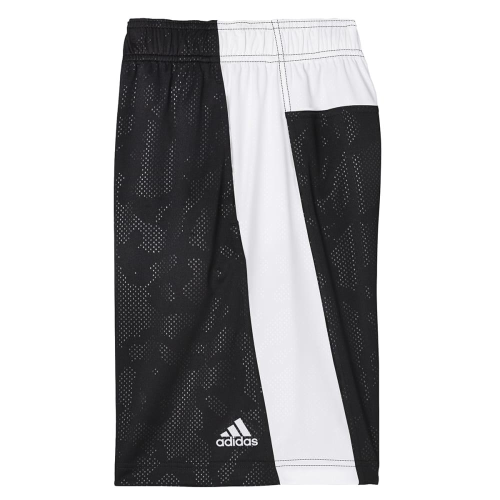 ADIDAS Boys' Breezy Base Shorts - BLACK/WHT-A82