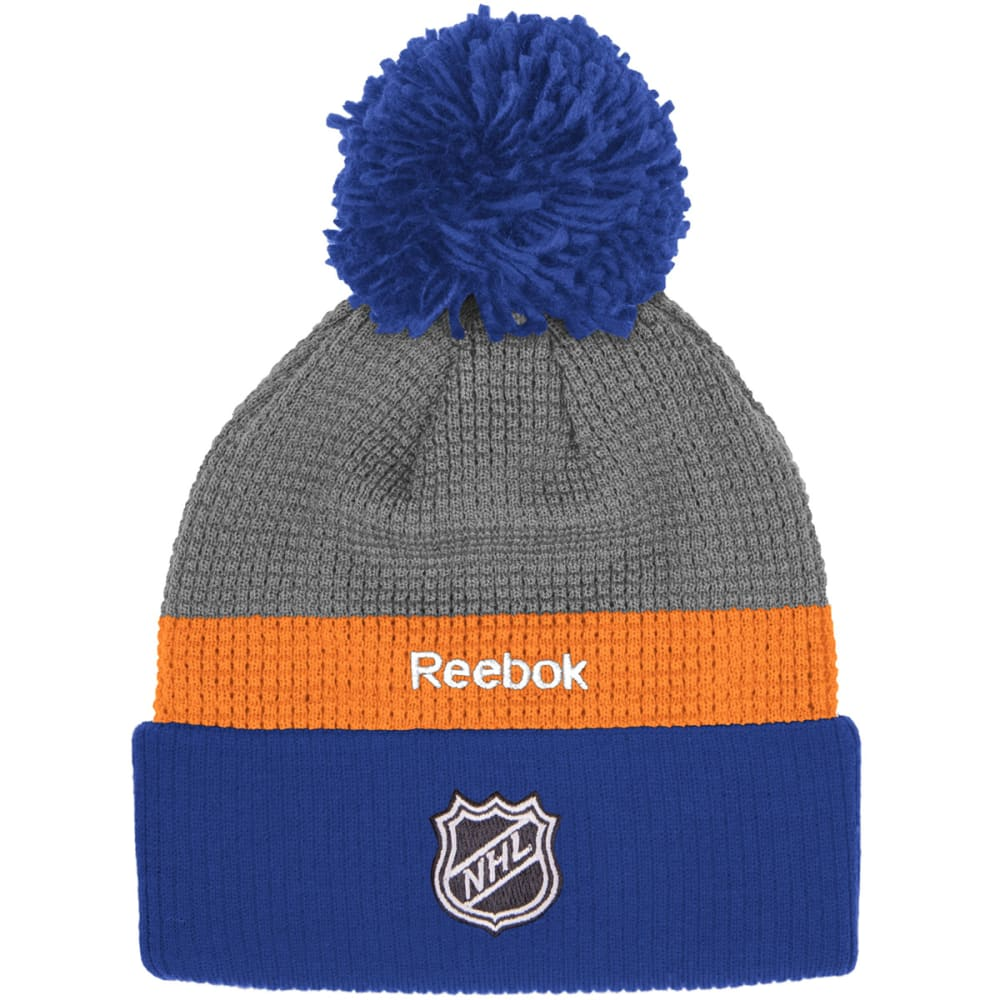 NEW YORK ISLANDERS Men's Cuffed Pom Hat - ROYAL/GREY
