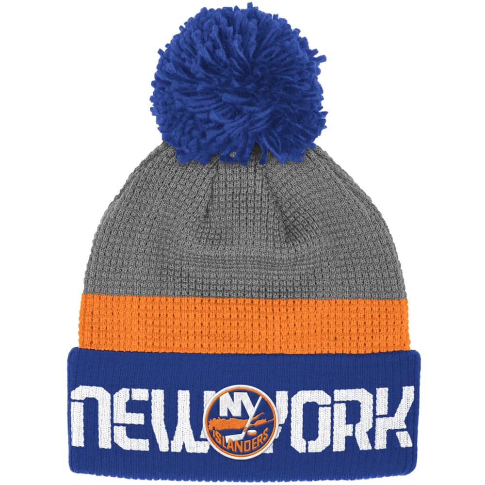 NEW YORK ISLANDERS Men's Cuffed Pom Hat - ROYAL/GREY