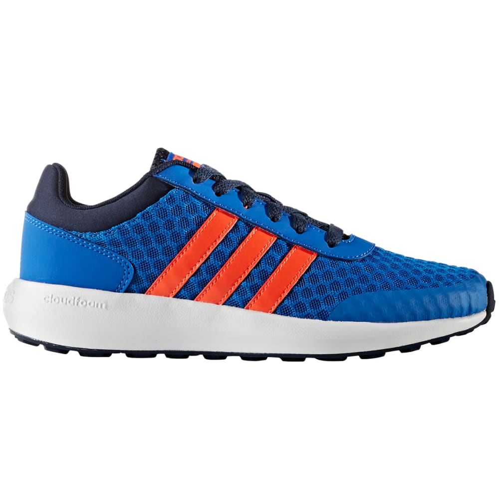 Adidas Boys Cloudfoam Race Shoes - Blue, 5