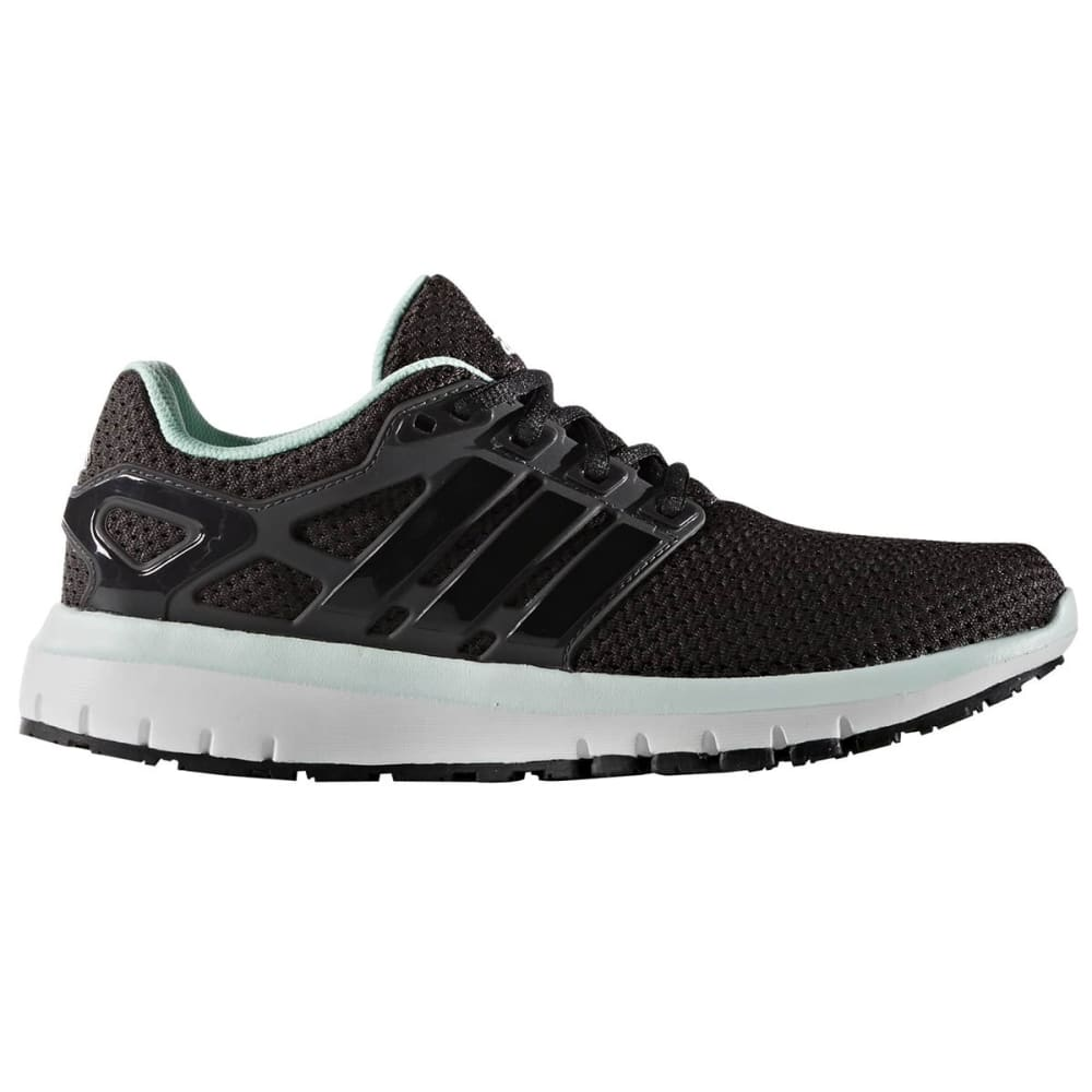 ADIDAS Women's Energy Cloud Running Shoes - BLACK/BLACK/ICE GRN