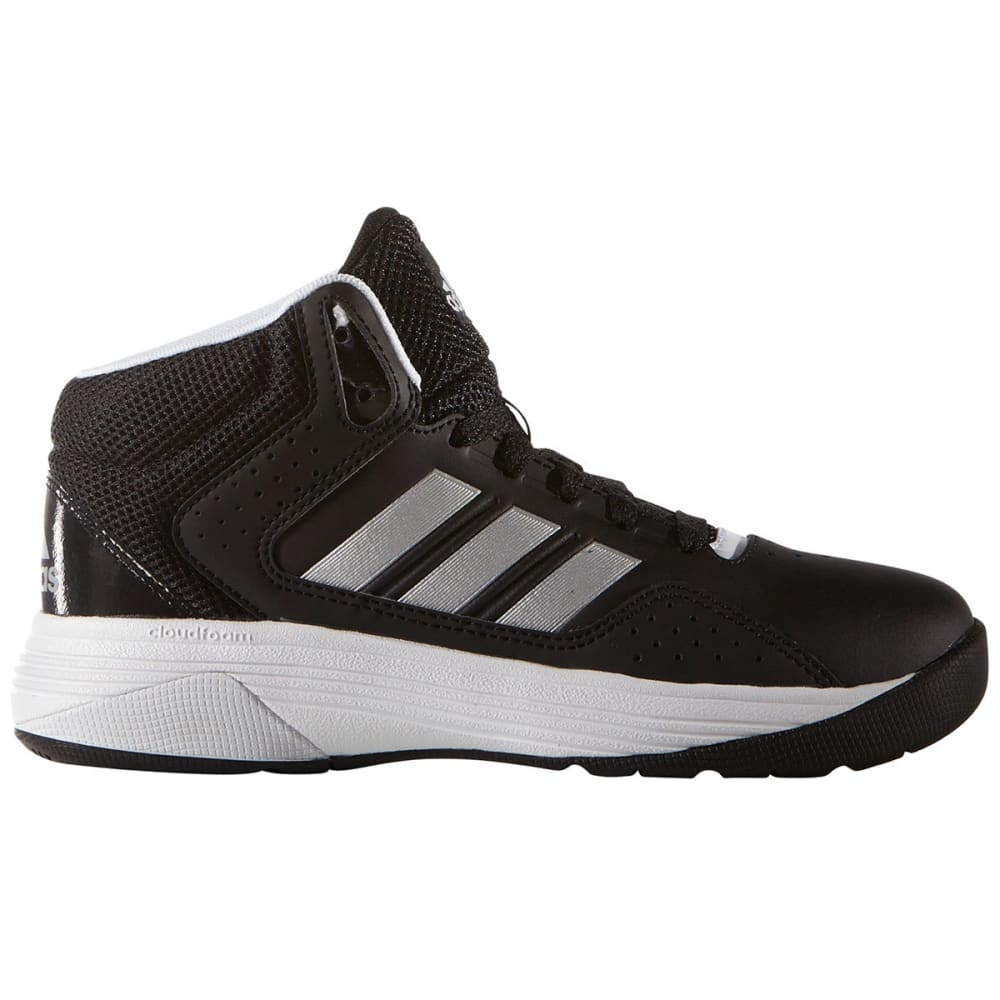 Adidas Boys Cloudfoam Ilation Mid Basketball Shoes, Black/silver/white