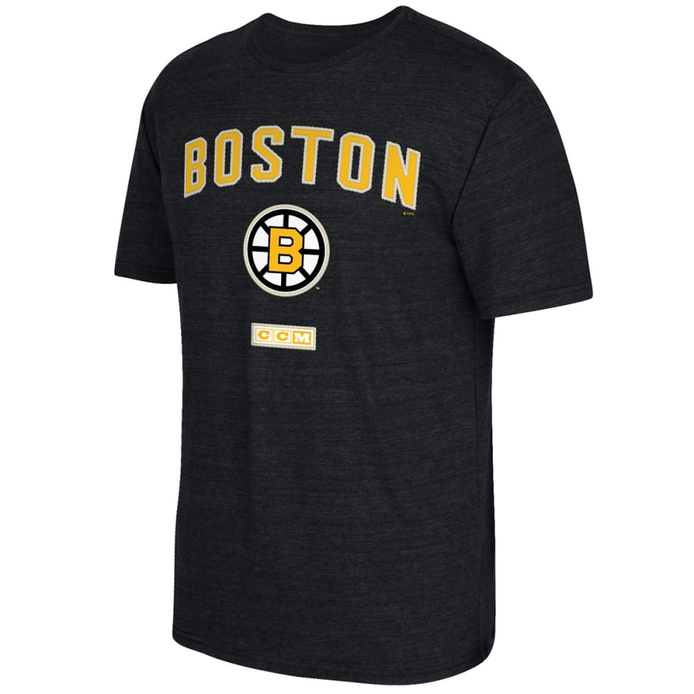 REEBOK Men's Boston Bruins Stitches Needed Short-Sleeve Tee - BLACK