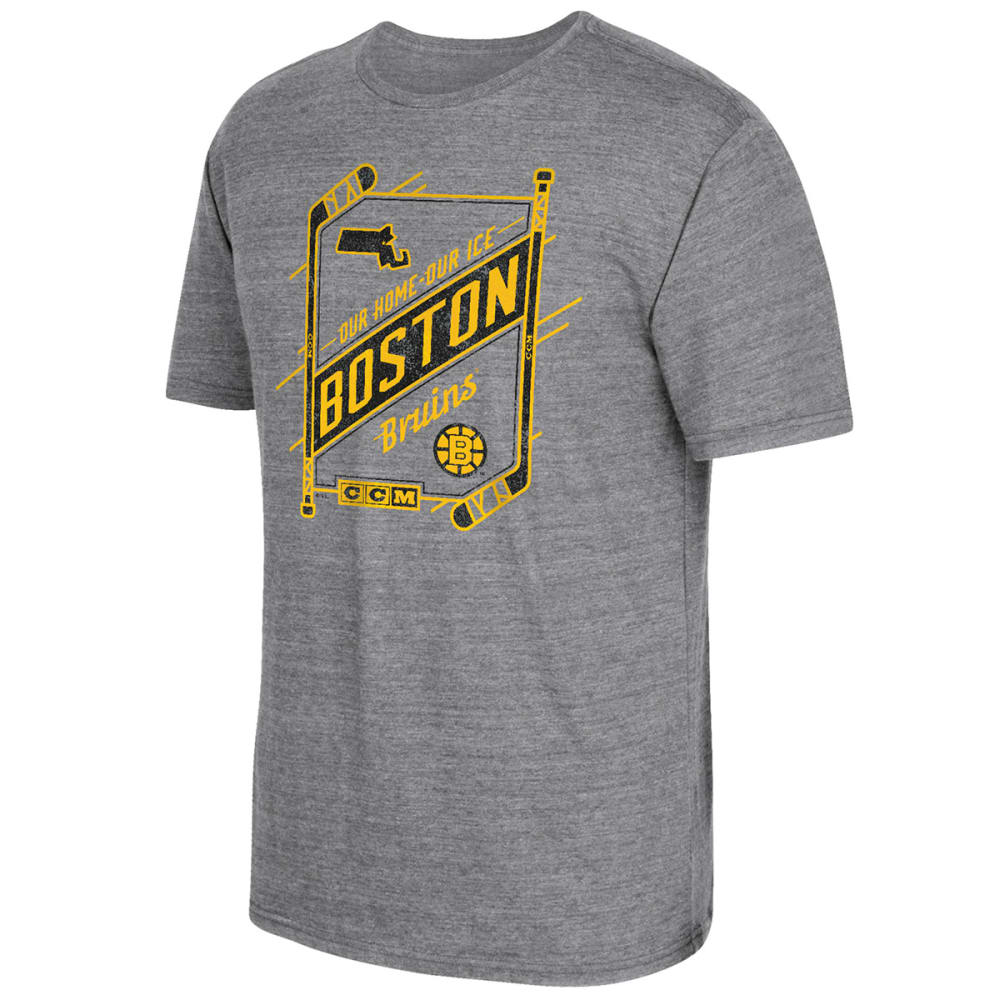 REEBOK Men's Boston Bruins Our Home, Our Ice Short-Sleeve Tee - GREY