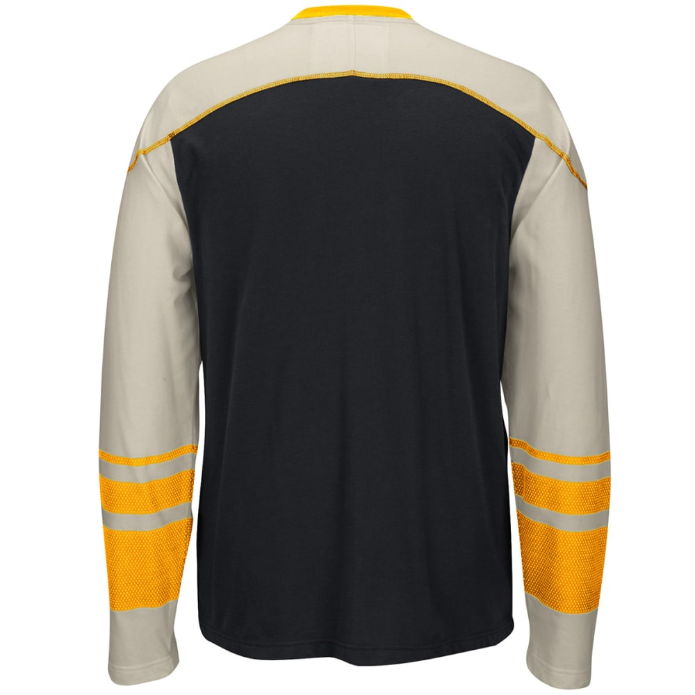 REEBOK Men's Boston Bruins CCM Long-Sleeve Tee - BLACK/CREAM