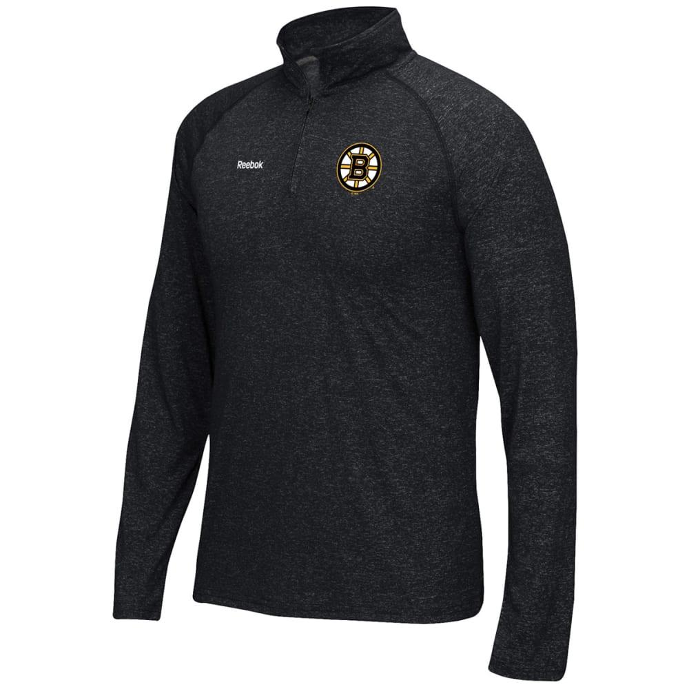 REEBOK Men's Boston Bruins Left Winger ¼-Zip Pullover - HEATHER BLACK