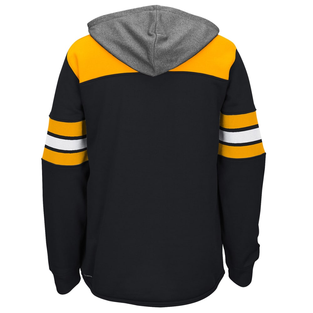 REEBOK Men's Boston Bruins Jersey Pullover Hoodie - BLACK/YELLOW