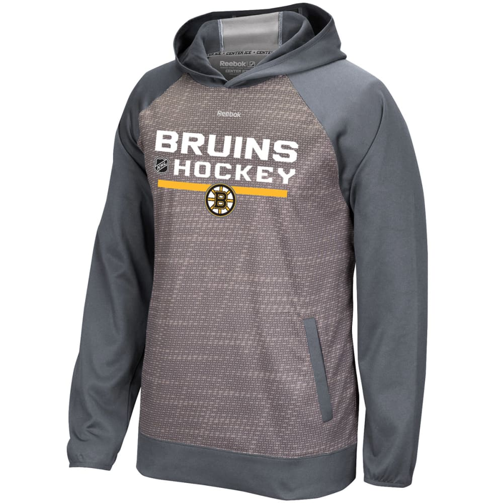 REEBOK Men's Boston Bruins TNT Pullover Hoodie - GREY