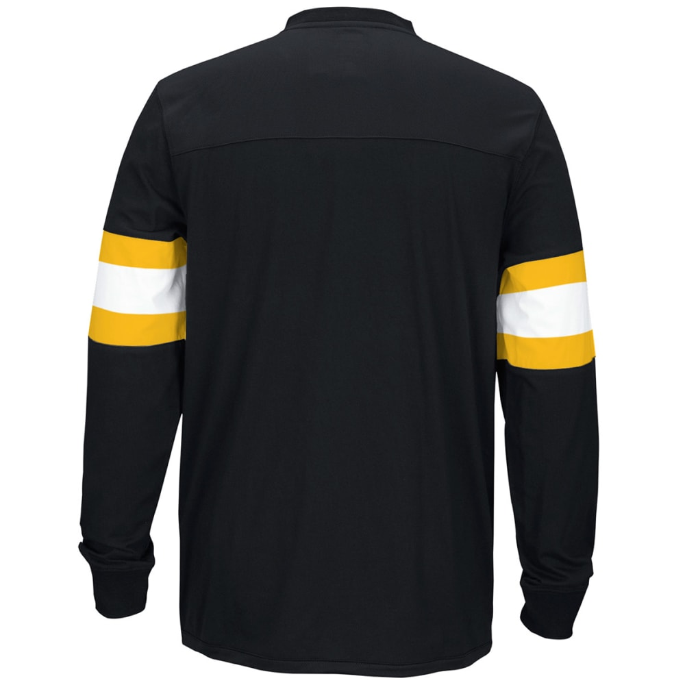REEBOK Men's Boston Bruins Jersey Long-Sleeve Tee - BLACK
