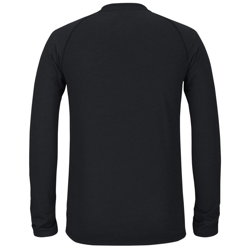 REEBOK Men's Boston Bruins Center Position Long-Sleeve Tee - HEATHER BLACK