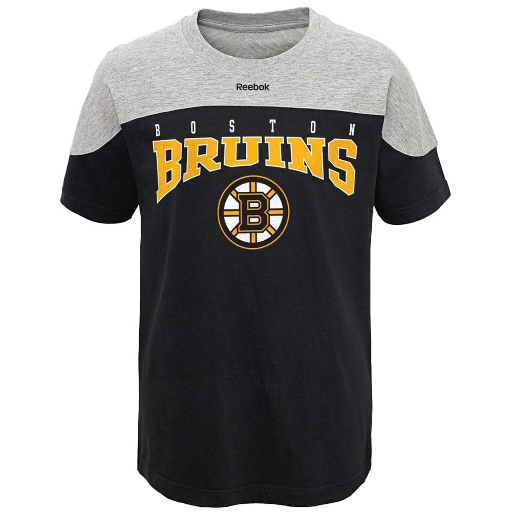 REEBOK BOSTON BRUINS Boys' Hockey Short Sleeve Tee - BLACK