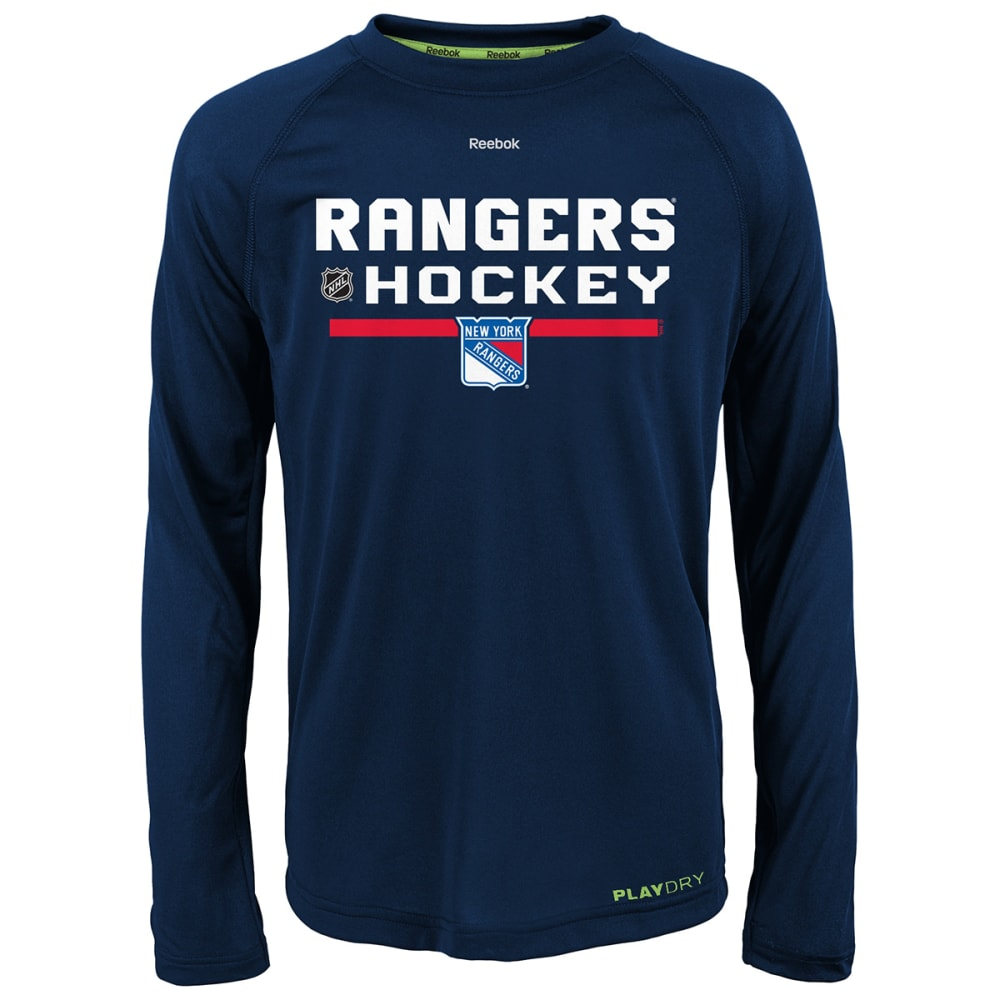 NEW YORK RANGERS Kids' Authentic Freeze Long Sleeve Tee - ROYAL BLUE