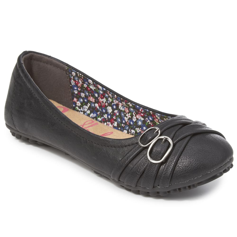 JELLYPOP Girls' Evelyn Ballet Flats - BLACK