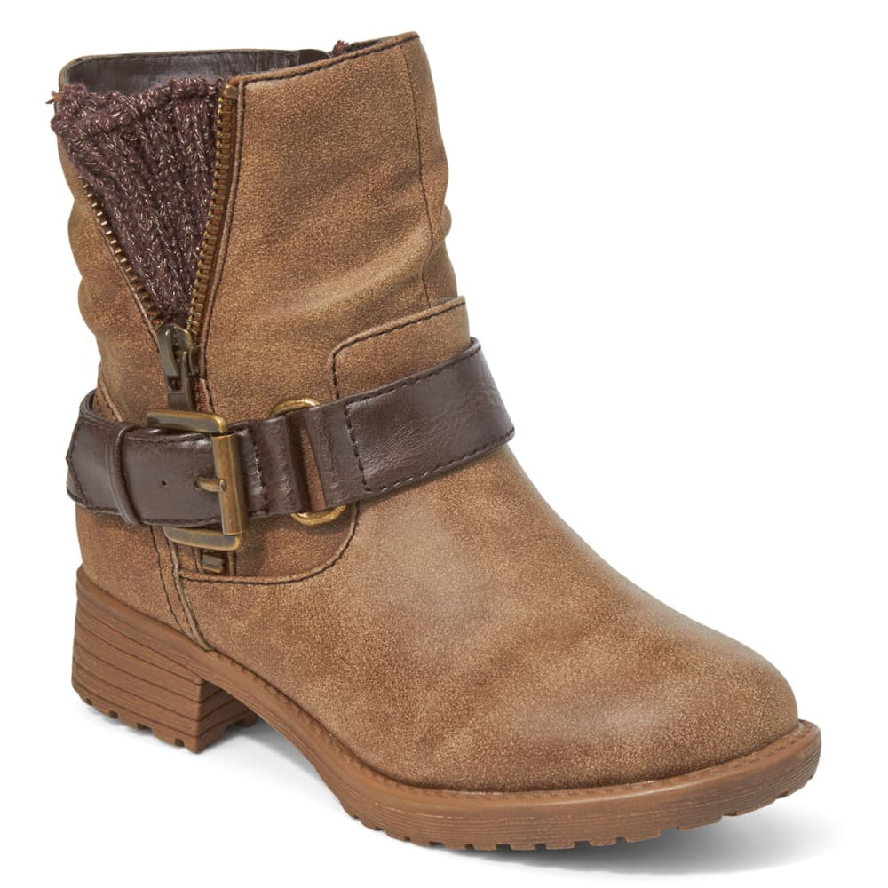 JELLYPOP Girls' Rosalie Distressed Booties - BROWN